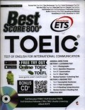 Best score 800+ TOEIC : test of English for international communication